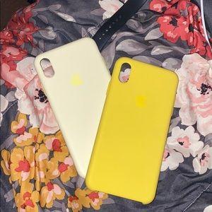 2 yellow XSMax cases